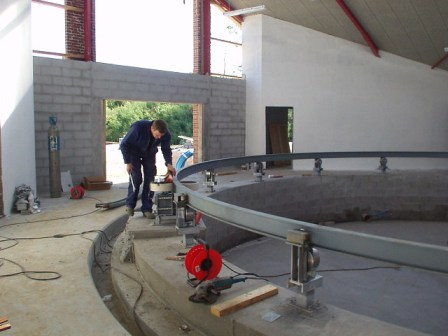 Site installation of rotary milking platfrom