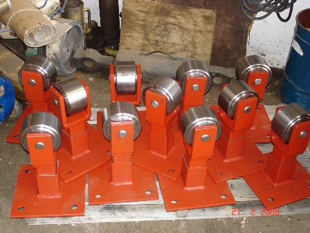 New Support Rollers for Rotary Platform track rebuild